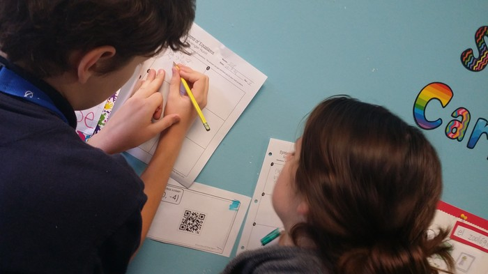 fulton science academy qr code equation scavenger hunt3