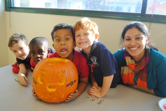 Fulton Science academy learning math with pumpkins2