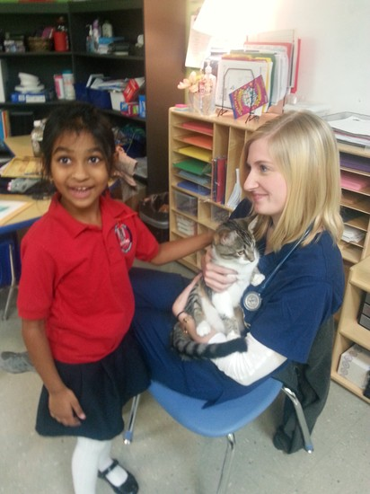 Fulton Science Academy veterinarian visit