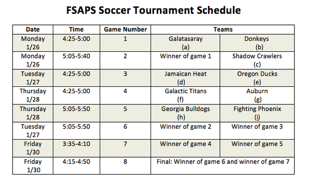 fsa psaps soccer tournament