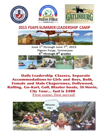 fsa summer leadership camp