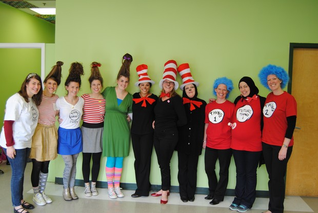 Fulton Science Academy private school dr. seuss' birthday!