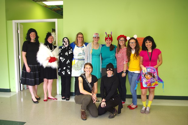 Fulton science academy private school spring book drive book character dress up.jpg2