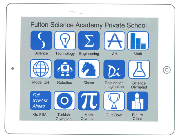 Fulton science academy private school steam shirt